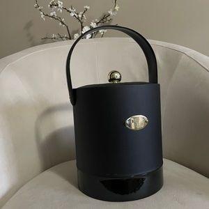 Vintage MCM Georges Briard Ice Bucket Gold Black